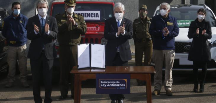 Presidente Piñera presenta proyecto Antinarcos