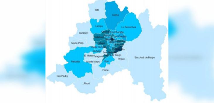 Puente Alto lidera comunas con más muertes por coronavirus de Chile: Iquique encabeza otras regiones