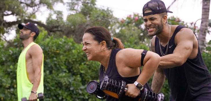 Toni Costa y Adamari López entrenan juntos