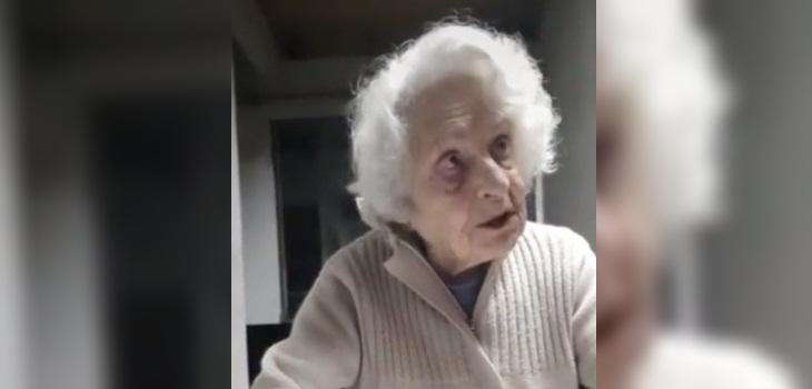 anciana viral torta