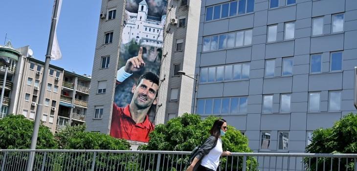 el gesto de Djokovic con ciudad de Serbia afectada por el COVID-19