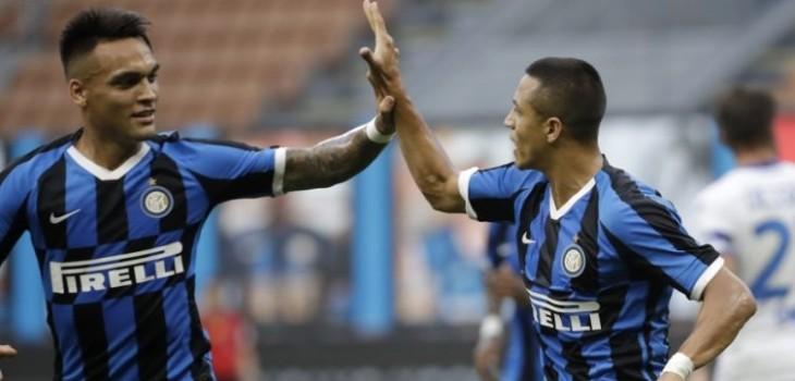 la eufórica reacción a 'la chilena' de Inter tras impecable partido de Alexis