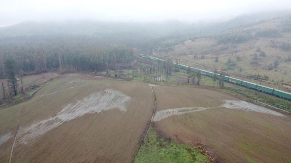 Desrielo afecta a tren de carga en La Araucanía