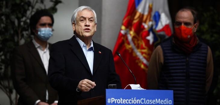 Piñera anuncia plan de apoyo a la clase media