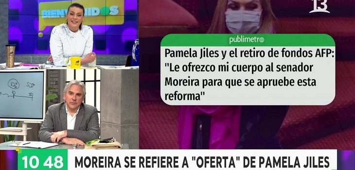 Iván Moreira y Pamela Jiles