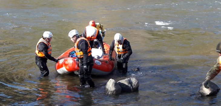 accidente río Simpson en Coyhaique
