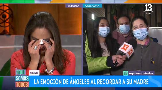Ángeles Araya se quebró al oír historia de solidaria mujer en 'Aquí Somos Todos'