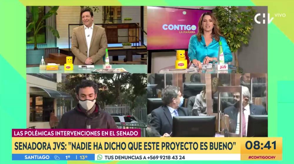"""La medida que tomó CHV con animadores de """"Contigo en La Mañana"""" ante petición de Seremi de Salud"""
