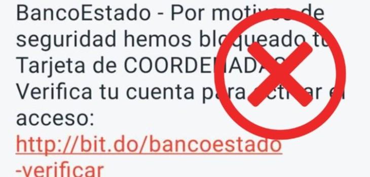 No se cansan: delincuentes nuevamente intentan estafar a clientes de BancoEstado mediante mensajes