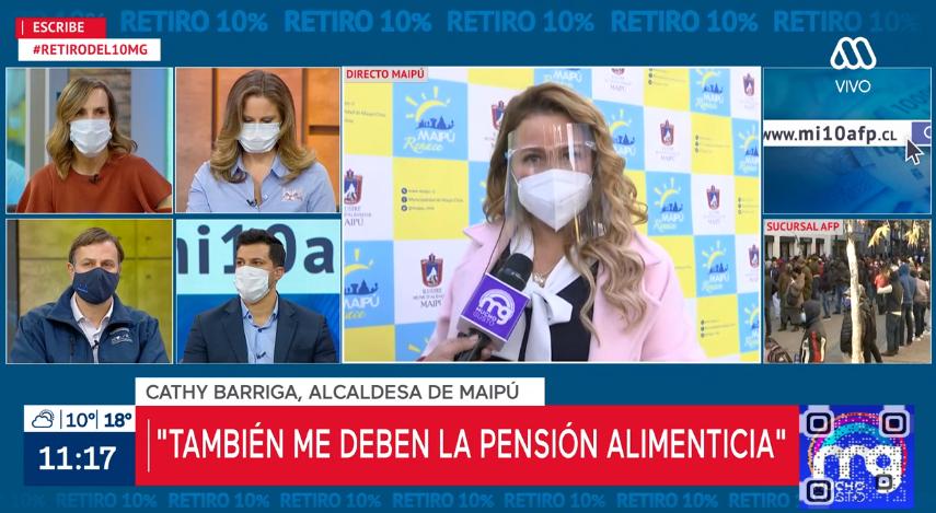 Cathy Barriga solicitará retención del 10% por deuda de pensión alimenticia