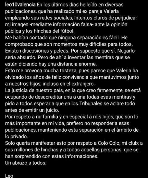 Leo Valencia niega acusaciones de violencia de expareja