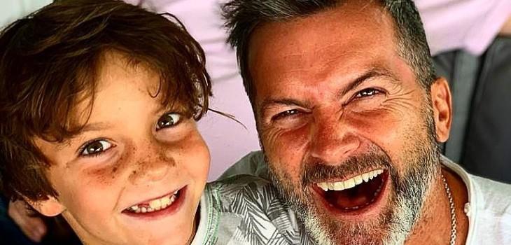 Cristián Sánchez y su hijo Facundo