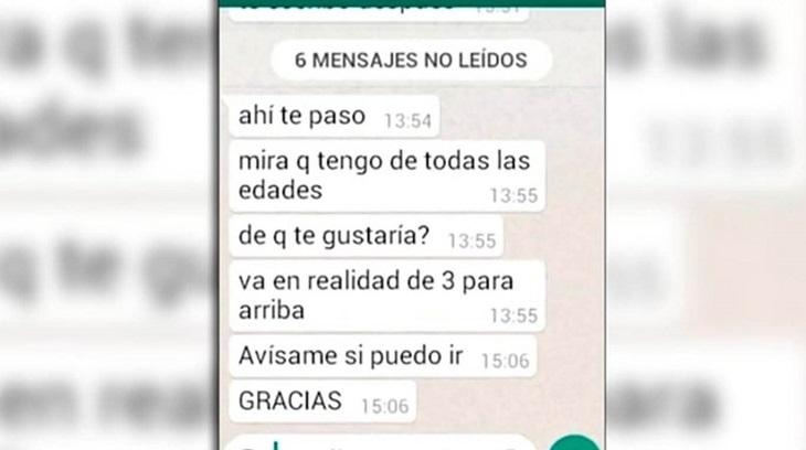 Chat de docente argentino por abuso sexual de menores