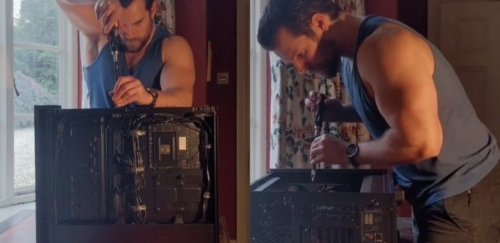 Henry Cavill comparte video armando un PC Gamer y revoluciona a sus fans
