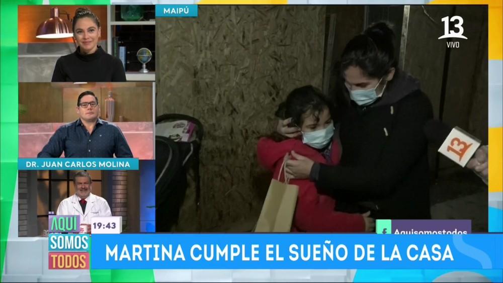 Martina quebró a Angeles Araya y Pancho Saavedra