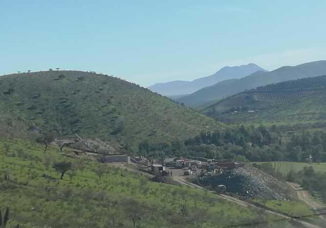 Vista panorámica de la mina La Poderosa