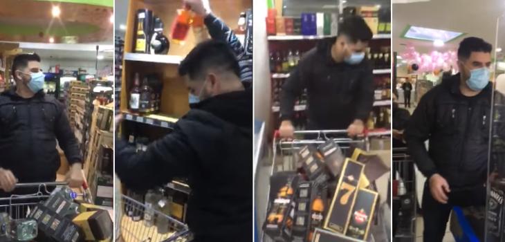 minuto feliz en supermercado de Puerto Natales