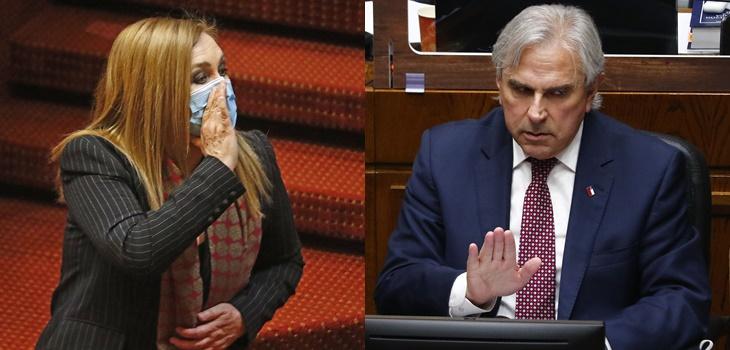 Pamela Jiles reaccionó a particular cita usada por Moreira en el Senado