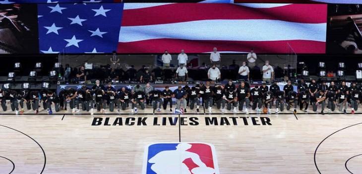 NBA reinicia con una imagen inédita e histórica