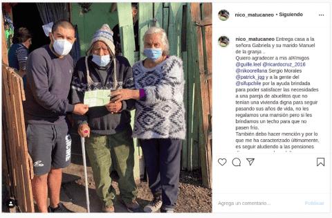 Nicolás Maturana y su gesto con abuelos que vivían en precarias condiciones