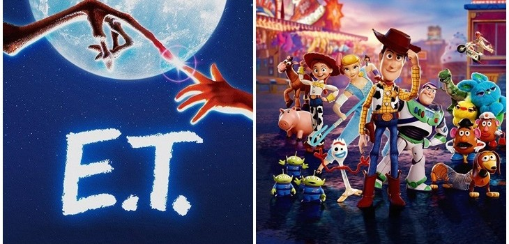 E.T (I) Universal Pictures | Toy Story 4 (d) Pixar