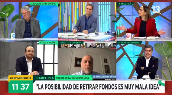 Exministra Isabel Plá reaccionó molesta en 'Bienvenidos' tras manifestar rechazo a proyecto del 10%