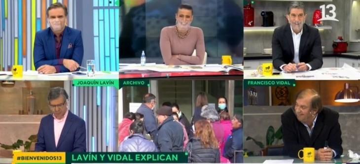 La divertida aclaración de Raquel Argandoña a Francisco Vidal por uso de mascarilla en Bienvenidos1