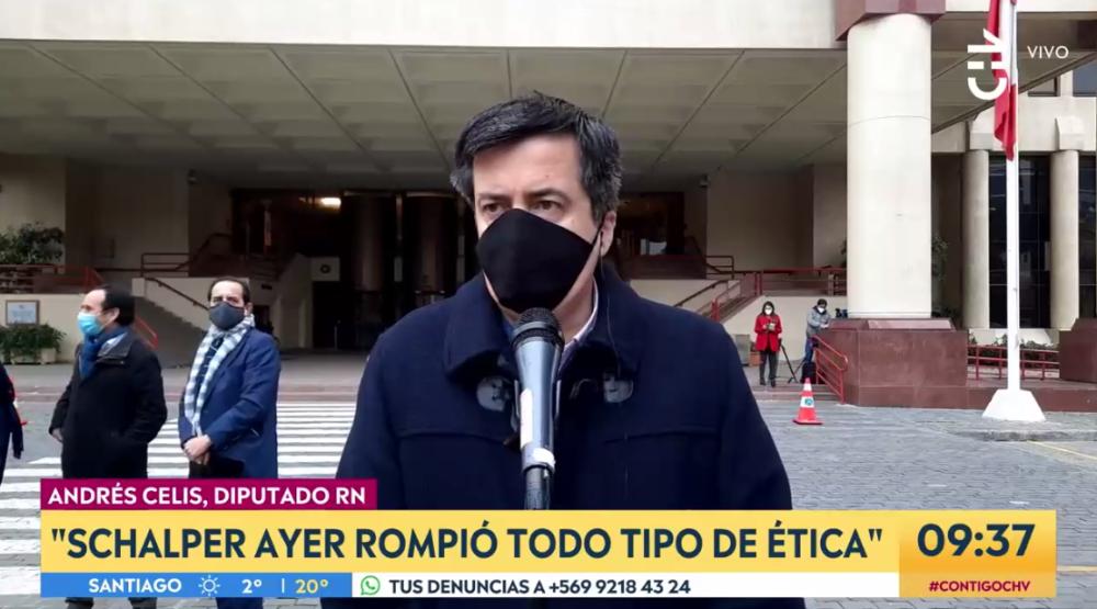 """Andrés Celis y acusación contra Diego Schalper: """"Tiene la mala costumbre de gritar cuando conversa"""""""