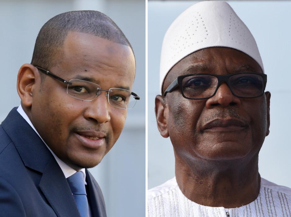 Primer ministro, Boubou Cisse (i) | Presidente Boubacar Keita (d) | AgencE AFP