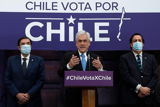 """Piñera promulga ley """"Plebiscito Seguro"""":"""
