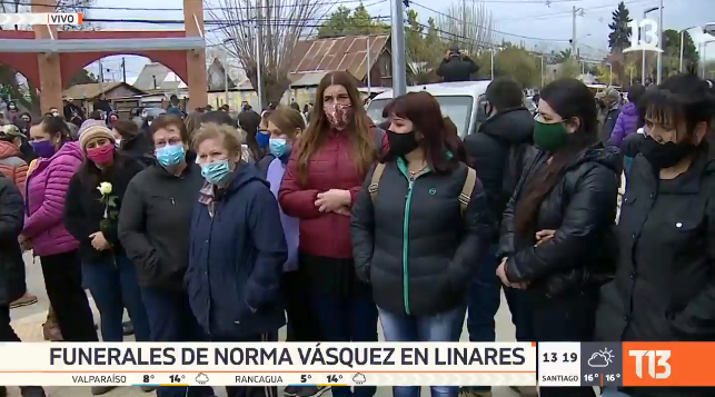 Masiva despedida a Norma Vásquez en Linares: hermana de carabinera agradeció apoyo