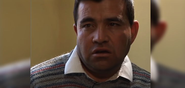Hugo Bustamante en Mea Culpa, El tambor