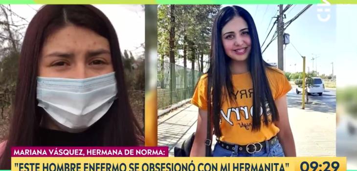 Hermana de Norma Vásquez sobre Gary Valenzuela: