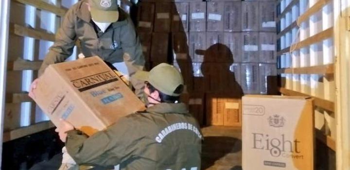 Capturan a traficantes de cigarrillos por ingresar 300 mil cajetillas avaluadas en $600 millones