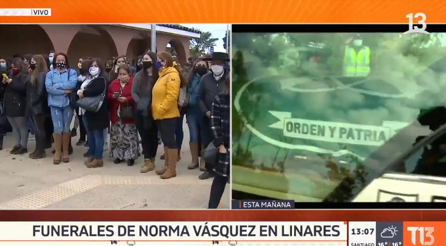 Masiva despedida Norma Vásquez, carabinera asesinada