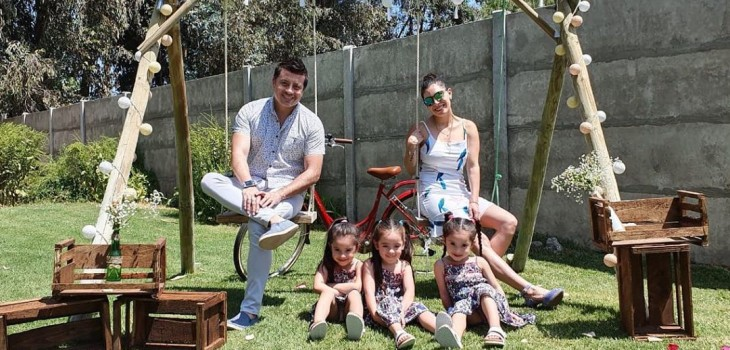 Hijas de Leandro Martínez cumplieron 5 años