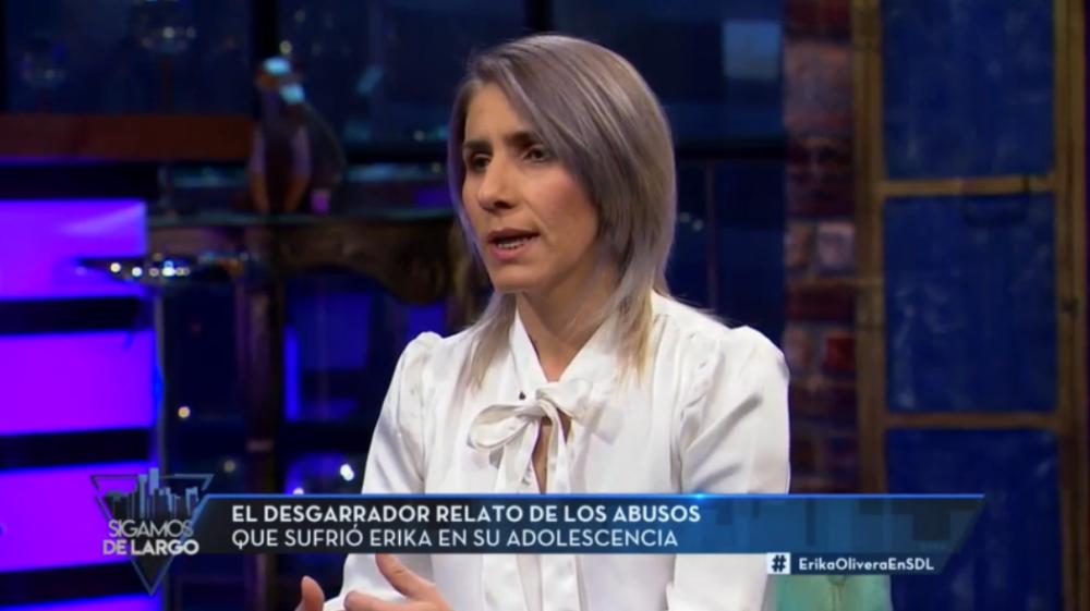 Erika Olivera recordó los duros castigos que sufrió en su infancia