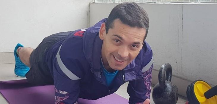 Gustavo Huerta entrena con su hija