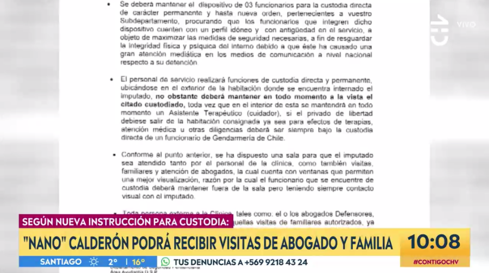 Nano Calderón podrá ser visitado por familiares tras aplicarse nuevo instructivo para su custodia