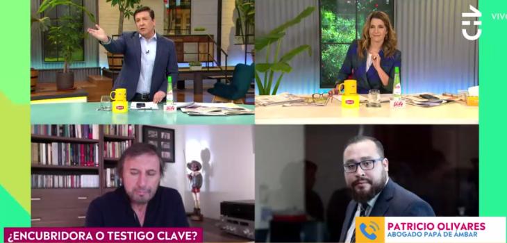 Tensa discusión de Julio César Rodríguez y abogado de padre de Ámbar en CHV: