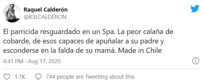 el furioso tuit de Kel tras enterarse que Nano Calderón fue internado