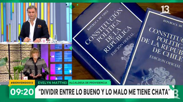 Evelyn Matthei en Bienvenidos