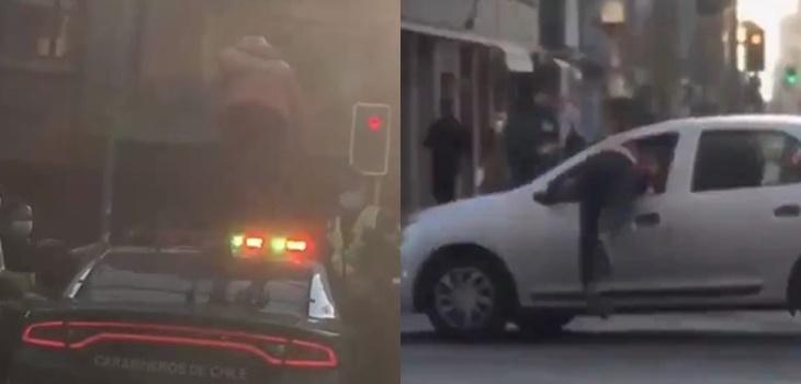 Habla joven que protagonizó video viral arriba de patrulla de Carabineros: