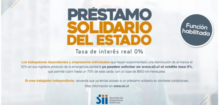 SII habilita plataforma para postular al préstamo solidario para la clase media