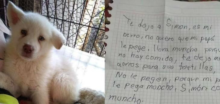 La triste historia de niño que dejó a su perro en un refugio: le manda cartas para que no lo olvide