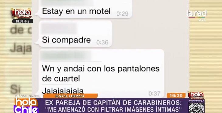 whatsapp carabinero katherine amenazas