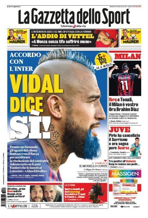 Medio italiano aseguró que Vidal aceptó oferta del Inter