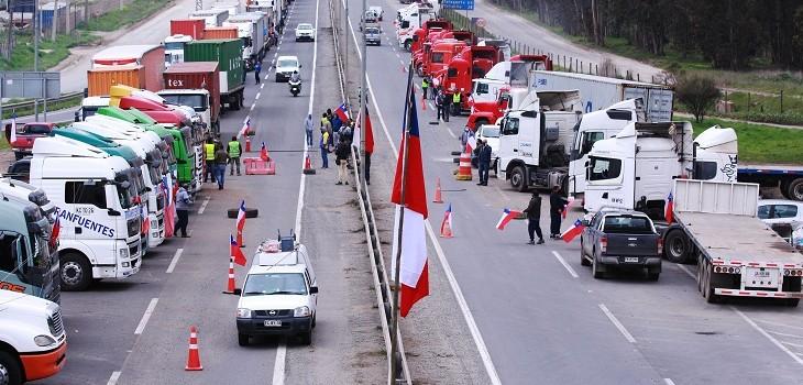 Paro de camioneros en Valparaíso