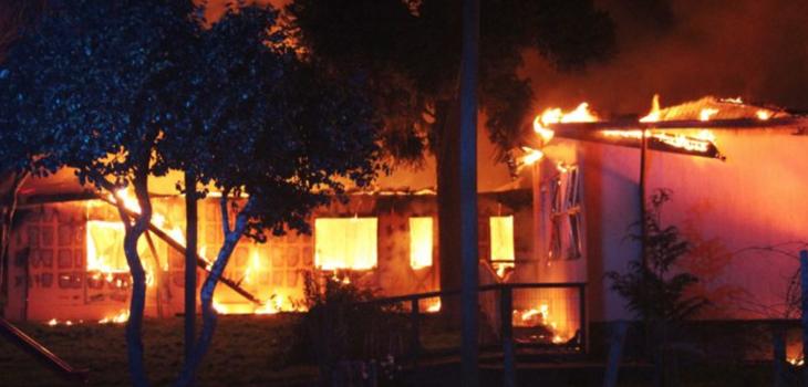 acusados de quemar internado en Lanalhue no tendrán prisión preventiva