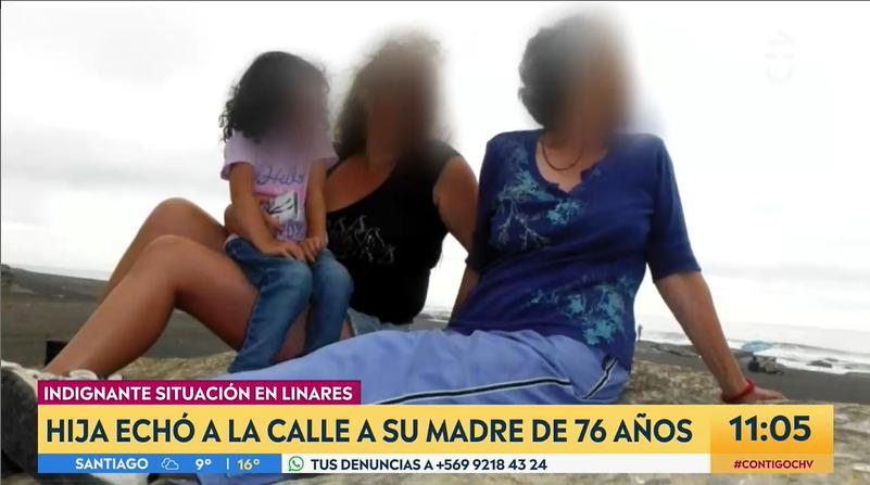 Adriana Lobos junto a su hija y nieta |Contigo en la Mañana | CHV